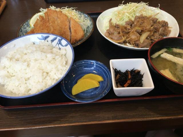 「つかもと食堂」メニュー。焼津の定食屋さん