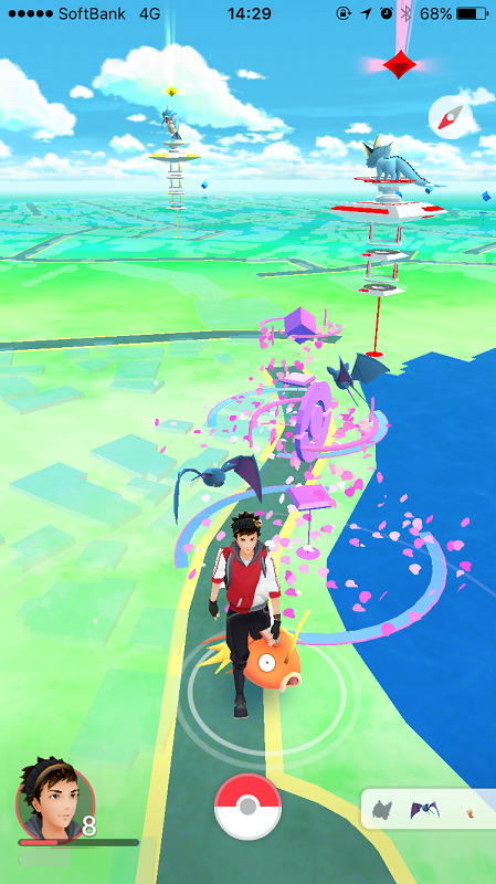 蓮花寺池はズバットとコイキングだらけ。藤枝市でポケモンGo