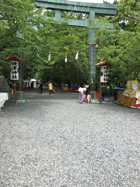 焼津「荒祭り」初日午前中に行ったらまだ祭りが・・・。焼津神社