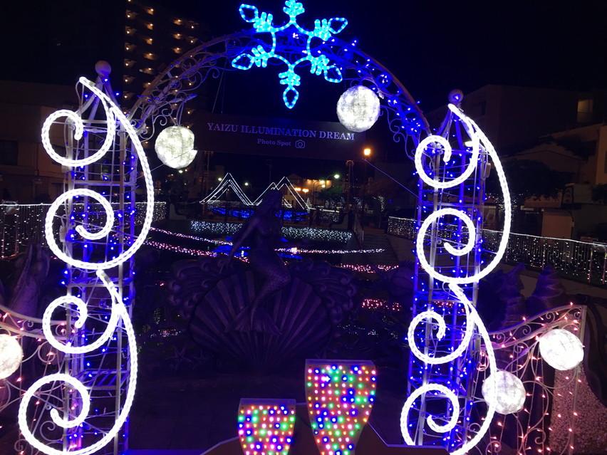 焼津駅イルミネーションの雰囲気と様子2017