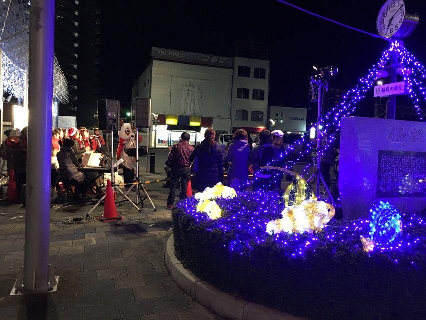 焼津駅、冬のクリスマスイベントゴスペルライブに行ってきた