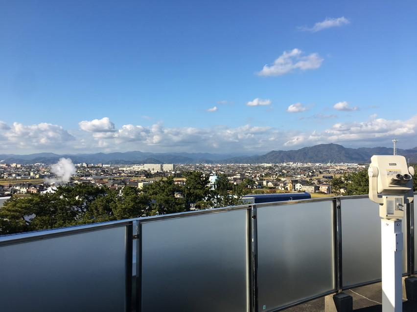 焼津市が一望できる景色の良い展望スペース、ディスカバリーパーク