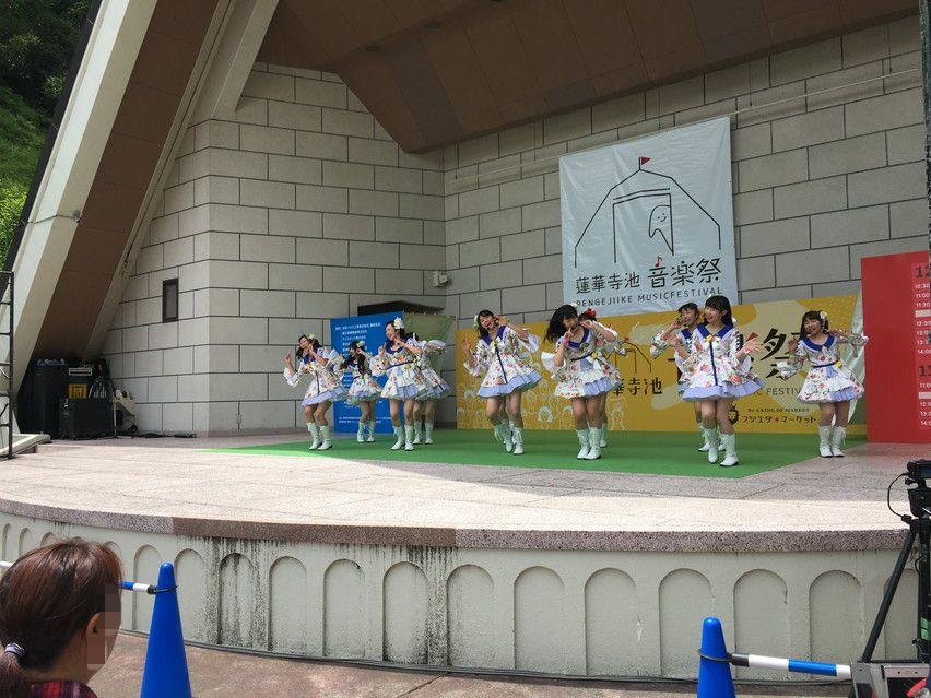 蓮華寺池音楽祭。野外音楽堂で茶果菜ライブ