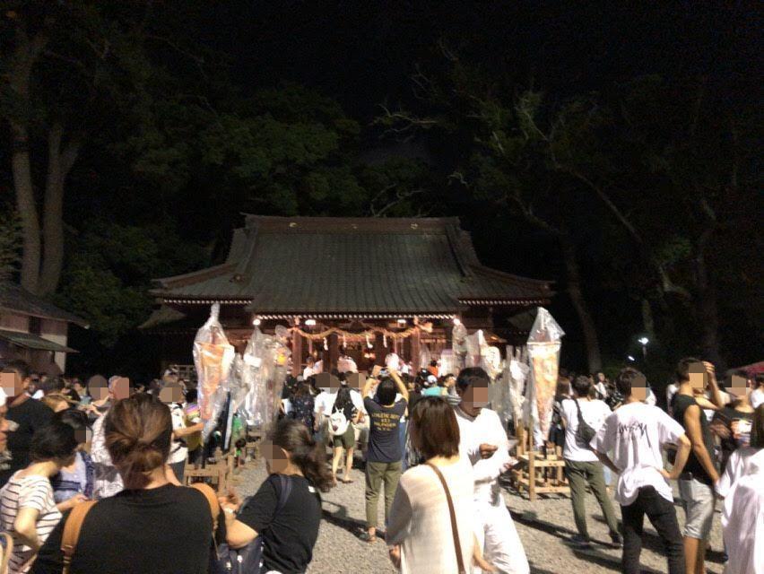 焼津市荒祭りに駐車場や駐輪場はあるか?夜の焼津神社