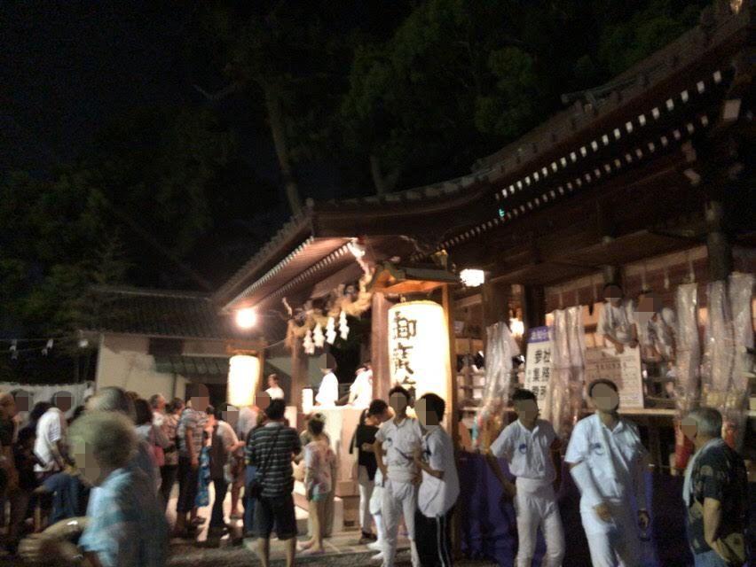 焼津「荒祭り」夜は焼津神社に屋台(出店)が出て盛り上がる