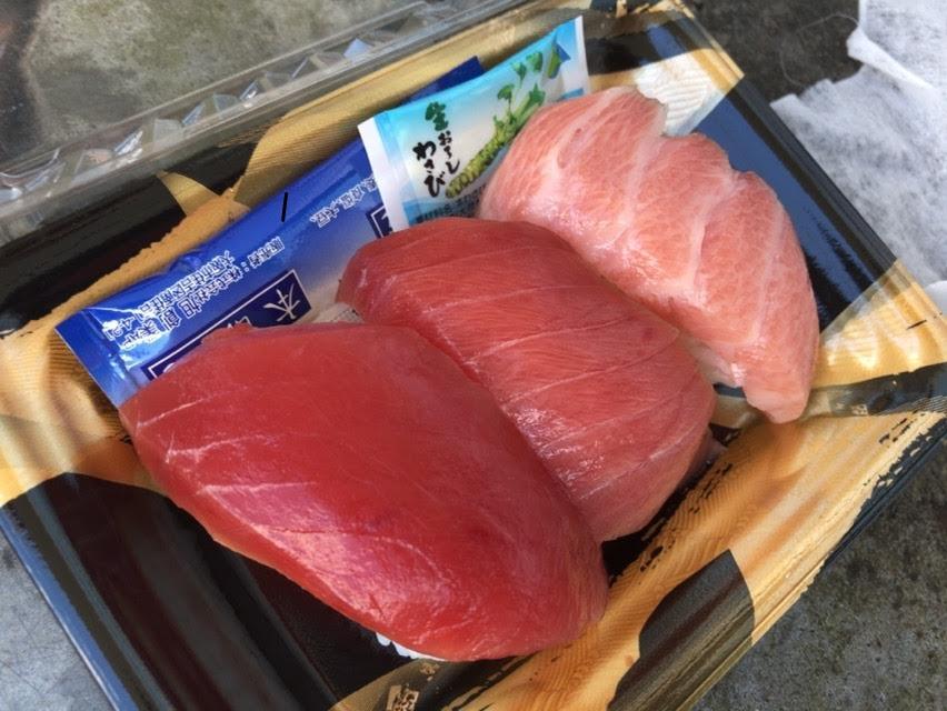 焼津「鮪deナイト」鮪祭りのミナミ鮪の握り寿司3貫無料に大行列