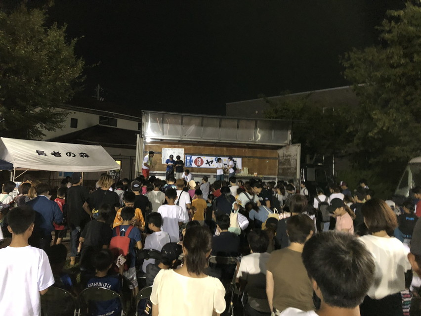 ヤミー市に夜行ってきた。盆踊り、焼津の夏祭り。子供も多く親子で楽しめる