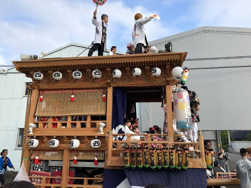 焼津市の三年に一度の吉永八幡宮大祭には天狗と獅子舞