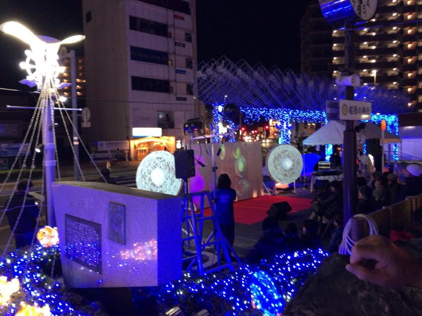 焼津駅のイルミネーションとクリスマスコンサート