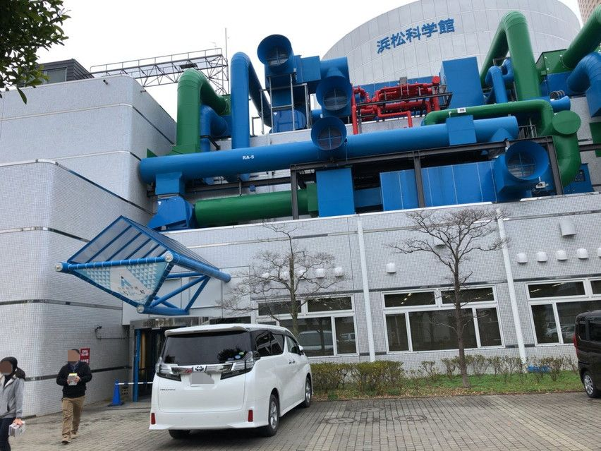 浜松科学館に車で行った場合の無料駐車場はありません