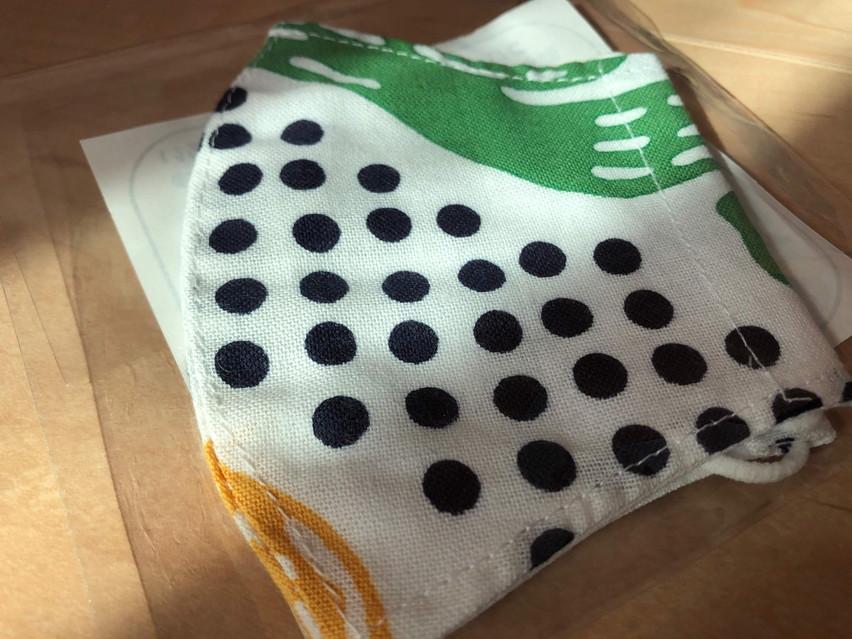 焼津市の幼稚園児に魚河岸マスクが届きました