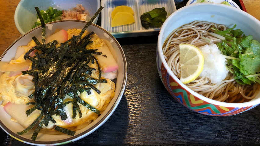 西焼津の蕎麦屋瑞光庵(ずいこうあん)で蕎麦定食ランチしました