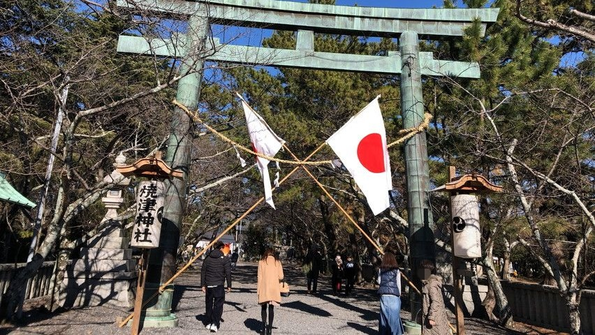 焼津神社で初詣。お正月2日目に行きました